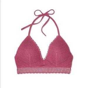 Women's Crochet Long Line Bikini Top 36DD
